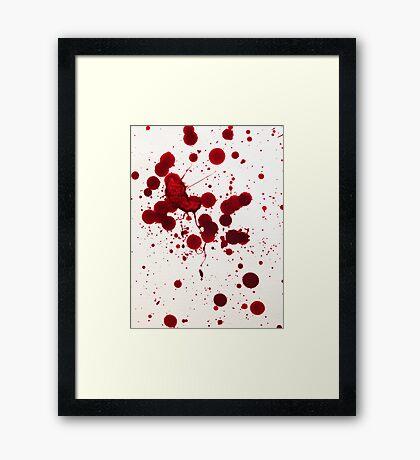 Blood Spatter 7 Framed Print