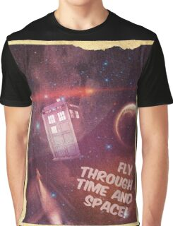 Retro Doctor Who Tourism Graphic T-Shirt