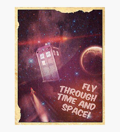 Retro Doctor Who Tourism Photographic Print