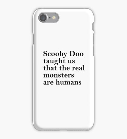 Lessons from Scooby Doo (Black) iPhone Case/Skin