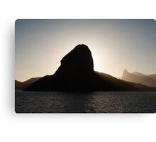 Sugar loaf mountain and Corcovado Canvas Print