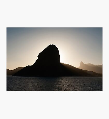 Sugar loaf mountain and Corcovado Photographic Print