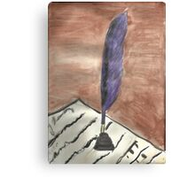 Purple Quill Love Letter Canvas Print