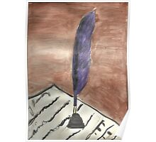 Purple Quill Love Letter Poster
