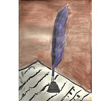 Purple Quill Love Letter Photographic Print
