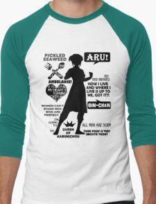 Gintama - Kagura Quotes Men's Baseball ¾ T-Shirt