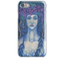Foxgloves, surreal / fantasy art, dryad, girl in flower crown iPhone Case/Skin