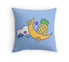 Moon Pineapple Throw Pillow