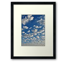 Relax amongst the Clouds Framed Print