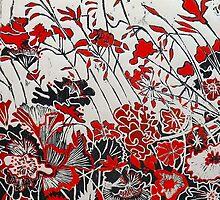 """My Red Geraniums by Belinda """"BillyLee"""" NYE (Printmaker)"""