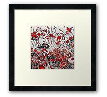My Red Geraniums Framed Print