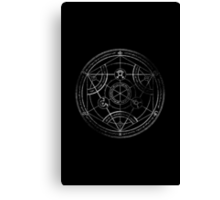 Human transmutation circle - chalk Canvas Print
