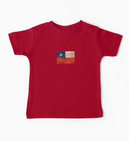 Vintage Aged and Scratched Chilean Flag Baby Tee
