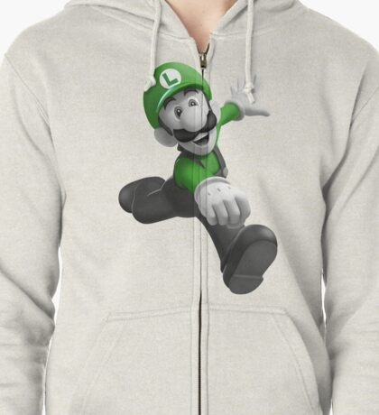 "Luigi, best friend (TO BUY IN COMBO WITH ""Mario, best friend"") Zipped Hoodie"