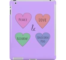 Peace Love Rainbows & Unicorn Poo iPad Case/Skin
