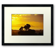 Last Sunset before Elections Framed Print