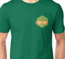 Teenage mutant minimalist turtles Michelangelo (green) Unisex T-Shirt