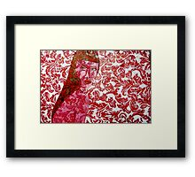 Pink Lady - Oils on Fabric Art Framed Print