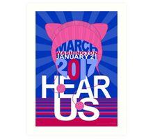Pussyhat Project / Women's March on Washington 2017 Art Print