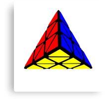 Pyraminx cude painting Canvas Print
