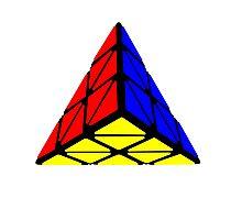 Pyraminx cude painting Photographic Print
