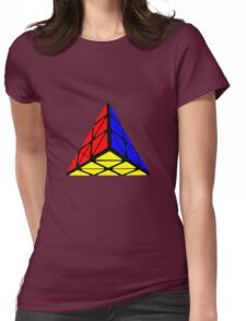 Pyraminx cude painting Womens Fitted T-Shirt
