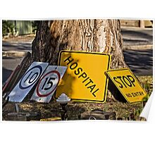 Traffic Sign Mania Poster