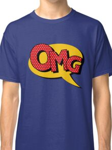 Comics Bubble with Expression OMG in Vintage Style Classic T-Shirt