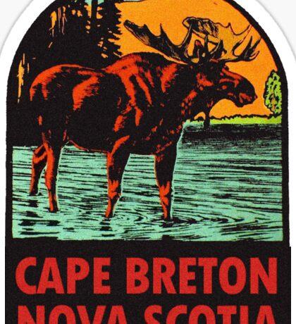 Cape Breton Nova Scotia Canada Vintage Travel Decal Sticker