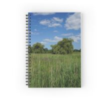 Trees on a field Spiral Notebook