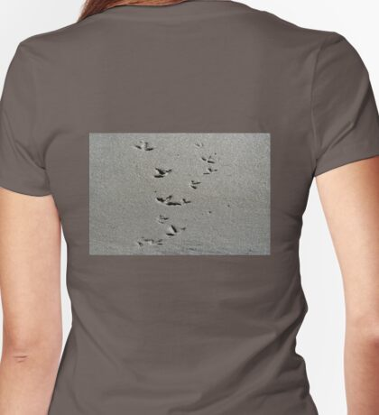 Piping Plovers in the Sand Womens Fitted T-Shirt