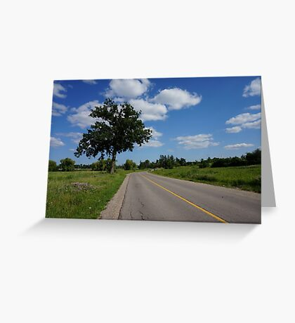 Tree by the road  Greeting Card