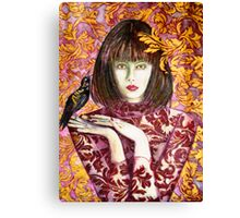Raven Girl Wins - STOLEN!! Canvas Print