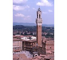 Sienna, Torre del Mangia, Palazzo Pubblico, Italy. Photographic Print