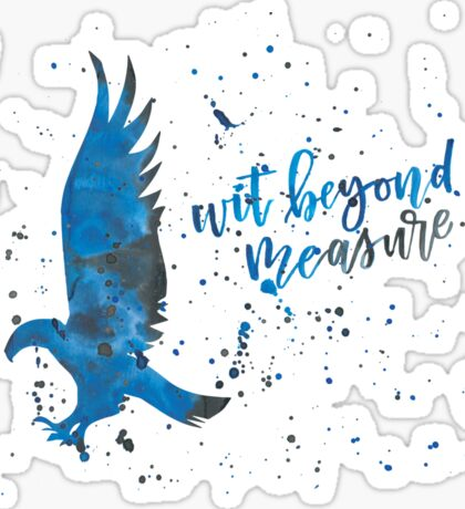 House Eagle Wit Beyond Measure Watercolor Sticker