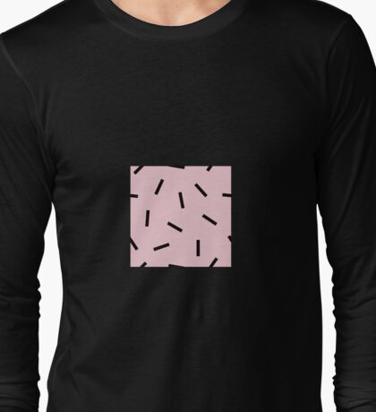Postmodern Confetti in Pink Long Sleeve T-Shirt