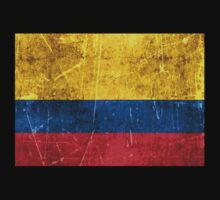 Vintage Aged and Scratched Colombian Flag Kids Clothes