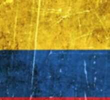 Vintage Aged and Scratched Colombian Flag Sticker