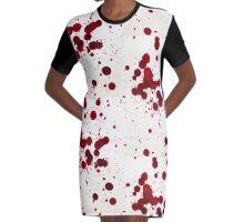 Blood Spatter 7 Graphic T-Shirt Dress