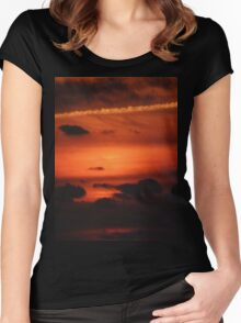 Sunrise over Dune Road Women's Fitted Scoop T-Shirt