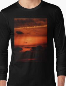 Sunrise over Dune Road Long Sleeve T-Shirt