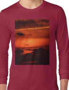 Sunrise over Dune Road Long Sleeve T-Shirt