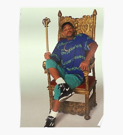 Fresh Prince of Bel-Air on Throne Poster