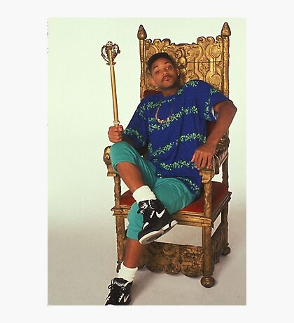Fresh Prince of Bel-Air on Throne Photographic Print