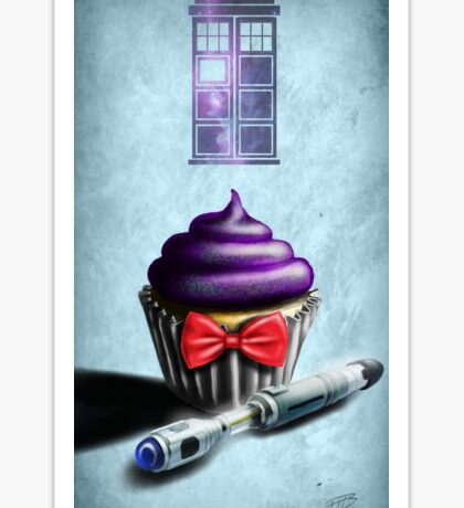 Doctor Who Cupcake Sticker