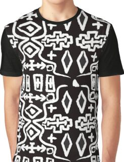 Abstract Mudcloth in Black + White Graphic T-Shirt