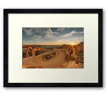 Sunset at Delicate Arch, Utah. Framed Print