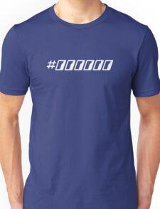 Pure Black Hex Color Code Unisex T-Shirt