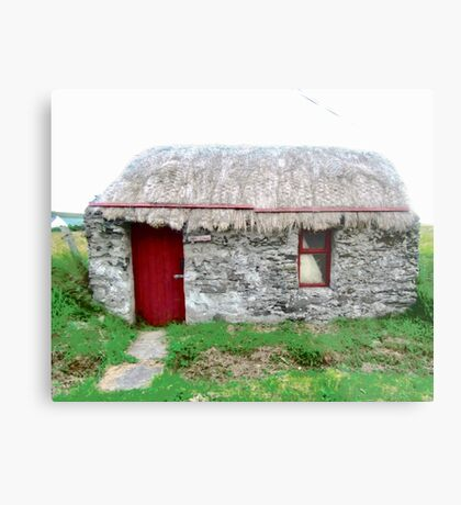 Canny's Cottage, Donegal, Ireland Metal Print