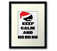 Keep calm and ho ho ho Framed Print